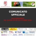 DPCM 18 ottobre 2020: nuove disposizioni su Allenamenti e Partite – Comunicato Ufficiale