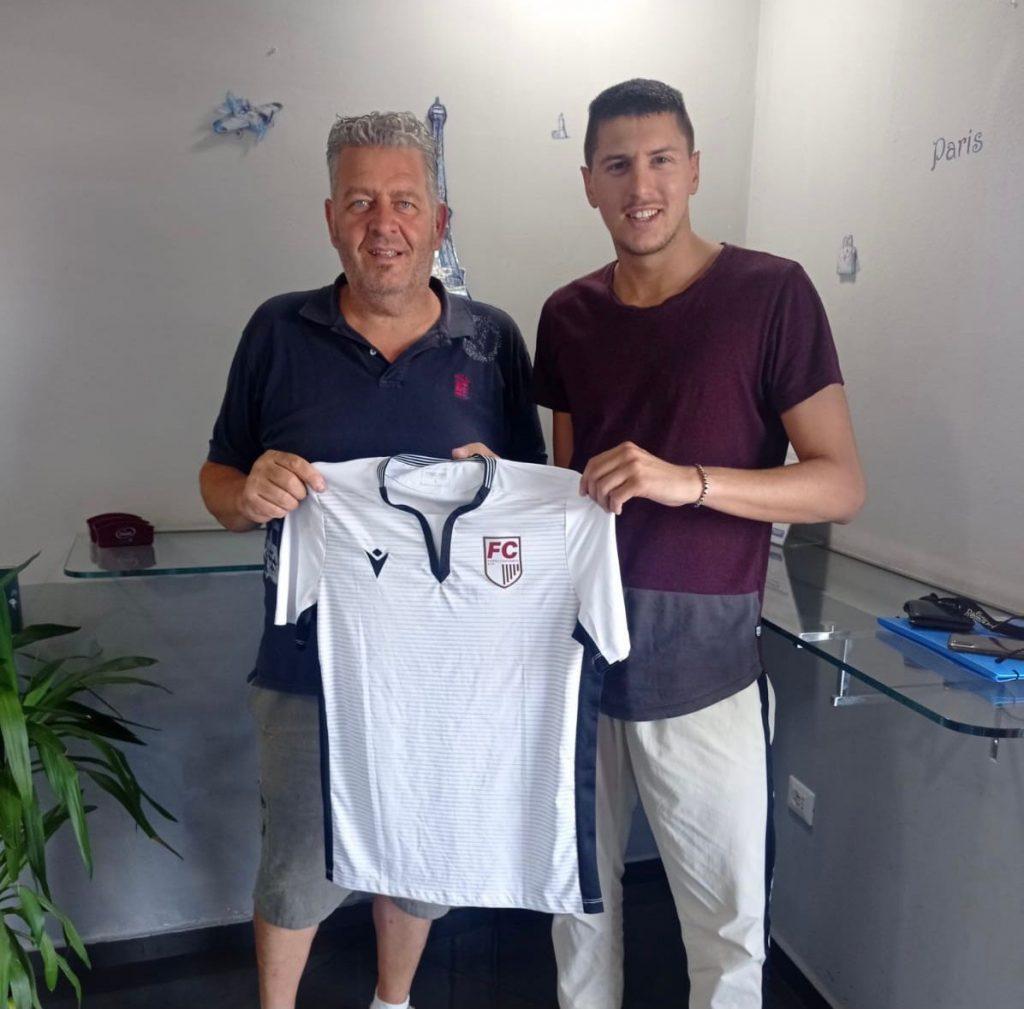 Erik Stucchi - nuovo acquisto di Futball Cava Ronco Forlì (Campionato Eccellenza) e del DS Marco Ricci