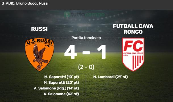 Futball Cava Ronco Eccellenza Girone C Forlì Calcio